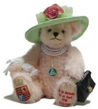 HM Queen Elizabeth II 90th Birthday Teddy Bear by Hermann Spielwaren - 13186-9