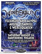 WINTERSUN / FLESHGOD APOCALYPSE / ARSIS 2013 PORTLAND CONCERT TOUR POSTER