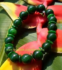 Chinese Maw Sit Sit Jade stretchy bracelet 10 mm bead 2.5-3.5+in