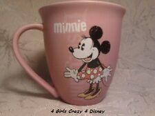 Disneyland Minnie Mouse Coffee Tea Hot Choc Mug Retired soft pink red 16 oz