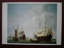 POSTCARD SAILING VESSELS ARRIVAL HOME OF DUTCH INDIA FLEET WITH A STATES YACHT 1