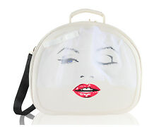 Betsey Johnson Kiss The Bride Train Carry-On Travel Weekender Luggage Suitcase