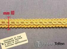 Bordo oro, bordino, passamaneria coprichiodo. Rifiniture per tappezzeria 10 mm