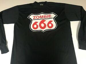 White Zombie XL 1996 Longsleeve Astro-Creep 2000 666 Shield Shirt Rob w/ HOLE