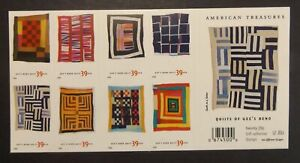 US 4089 - 4098B QUILTS OF GEE'S BEND 2006 BOOKLET PANE OF 20 .39 CENT, mnh