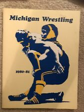 Michigan Wrestling Program 1981-82