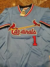 MLB Ozzie Smith #1  (Light Blue) Authentic Retro Jersey
