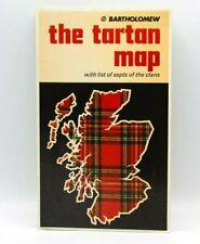 The Tartan Map Bartholomew historical Map Tartans Scotland