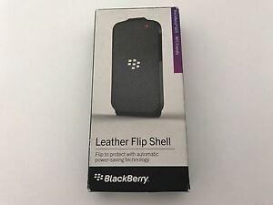 BRAND NEW GENUINE BLACKBERRY Q10 LEATHER FLIP SHELL ASY-50706-001