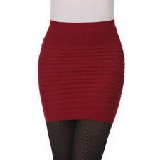 Women Sexy Bandge Leather High Waist Pencil Bodycon Hip Short Mini Skirt Party