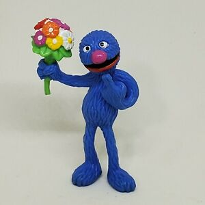 Vintage Grover with Flower Bouquet PVC Figure Sesame Street Applause