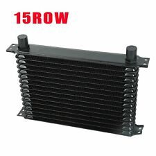 15 Row Engine Trans Transmission 10An Universal Oil Cooler Black