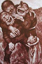 Theodor Kittelsen: Buchillustration zu Der goldene Vogel - Troll - Druck print