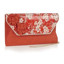 Ruby Shoo Coral Deia Clutch Bag (Matches Viola Mid Heels)