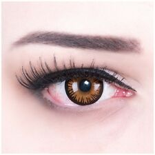 Coloured Contact Lenses Brown Twilight for Carnival & Parade + Free Case