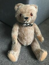 """Adorable Antique Caramel Mohair Jointed 14"""" Teddy Bear Fully Jointed NICE LOOK !"""