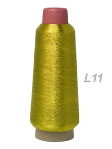 Large Spool Silver  and Gold Color Polyester Embroidery Machine Metallic Thread
