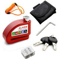 Motorcycle Scooter Anti-theft Brake Disc/Disk Lock Wheel Alarm Security Loud