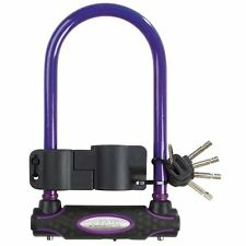 Master Lock Sold Secure Gold D U Bar Bike Bicycle Cycle Lock 210mm - PURPLE