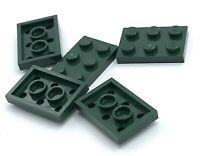 Lego 5 New Dark Green Plates 1 x 2 Dot Building Blocks Pieces
