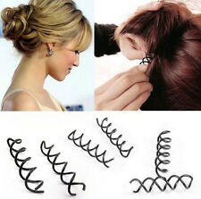 12 Pcs Dress Up Beauteous Spiral Spin Screw Design Pin Hair Clip Twist Barrette