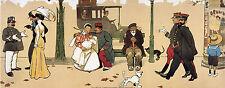 "POODLE WHITE FRENCH PARK DOG FINE ART PRINT - ""Paris Boulevard I"" by Ton Browne"