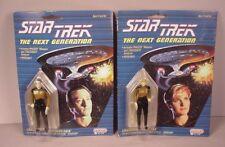 "Vintage 1988 Star Trek 2 Action figures  MOC 3 3/4"" toys Tasha Yar & Data  TNG"