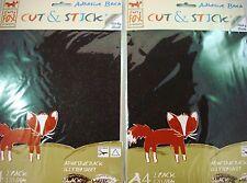 2 Packs Glitter A4 Adhesive Sheets Black/White Craft DIY Scrapbook POSTAGE