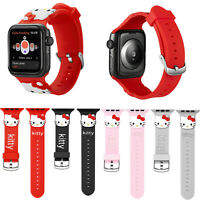 Cartoon Hello Kitty Silicone Sport Band For Apple Watch Series 4 3 2 Wrist Strap