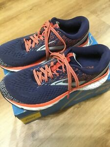 Brooks Ghost 11 Blue/coral Size 6.5 running shoes trainers boxed