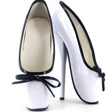 18cm Lady Heel Stilettos Womens Ballet Bowknot Pumps Mixed Color Slip On Shoes