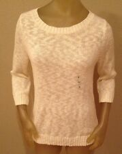 NWT Old Navy Cream 3/4 Sleeve Sweater Womens Large L