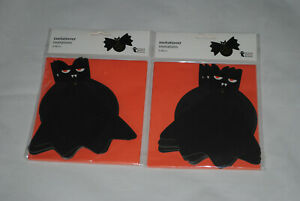 Pack of 12 Halloween Party Invites Invitations Fold Out Bat Wing Design Envelope