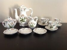 Antique Vintage Royal Sealy Floral 14 Piece China Japanese Miniature Tea Set