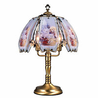 """ORE International 23.5"""" Tall Metal Touch Table Lamp, Brushed Gold finish, Cat..."""