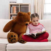 WOWMAX® 3 Ft Big Brown Teddy Bear Stuffed Animal Plush Toy Birthday Gift for Boy