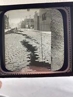 Vintage Earthquake Damaged Street Photo Negative Plate Glass Estly 1900s