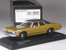 Klasse: Minichamps Dodge Monaco gold metallic 1974 in 1:43 in OVP