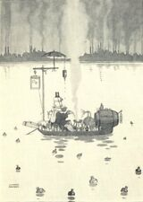 HEATH ROBINSON. The man who made up his mind not to catch the 'flu. SMALL 1935