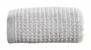4 PIECE WAFFLE HONEYCOMB STORM GREY 100% COTTON 480GSM HAND BATH TOWELS