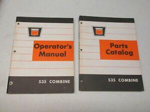 OLIVER 535 COMBINE OPERATOR'S MANUAL & PARTS CATALOG