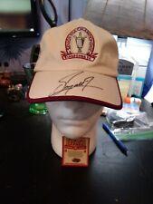 Autographed Fuzzy Zoeller Senior PGA Chanpionship Hat Firestone CC With COA
