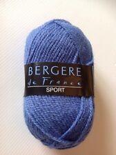 GROS LOT de 14 PELOTES Bergère de France Laine & Acrylique Bleu Sport NEUF