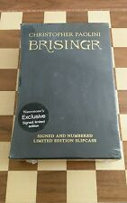 Christopher Paolini Brisingr 1st/1st HB Signed Numbered Limited Edition SEALED