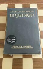 Christopher Paolini Signed Slipcased Numbered Brisingr 1/1 UK HB 2008 Lovely