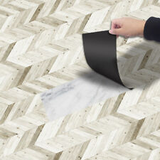 Beige Wood Tile Floor Ground Sticker Self-adhesive Bathroom Kitchen Wall 20x300