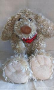 Vtg Gina Toys Fluffy Blonde Curly Hair Soft Plush Dog Toy Spaniel Cockapoo? VGC