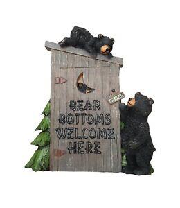 Wall Plaque Black Bear Welcome Rustic Cabin Lodge Decor Indoor Outdoor New
