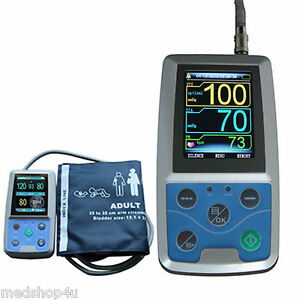 2021 Newest Portable Vital Sign Patient Monitor, NIBP,PC Software,US ABPM50