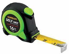 "New  KOMELON Self Lock Measuring Tape 16 Ft. X 1"" SL28116- Lime Green- Free Ship"